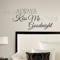 Muursticker Roommates: Always Kiss Me Goodnight 45x25 cm