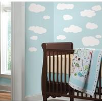 Muursticker Roommates: Clouds White Background 25x45 cm