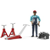 Garage werker met accessoires Bruder