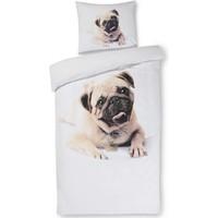 Dekbed Dog: Pug 140x200/60x70 cm