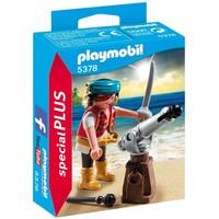 Piraat met bronzen scheepskanon Playmobil