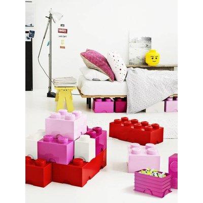 LEGO License Opbergbox Lego DESIGN: brick 4 licht roze PINK