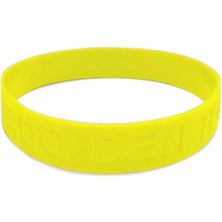 ADO Den Haag Armbandje rubber geel: glow in the dark
