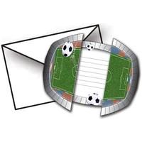 Uitnodigingen Soccer Party: 8 stuks