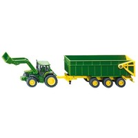 John Deere with Front Loader and Trailer SIKU