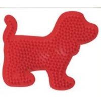 Strijkkralen bord SES hond