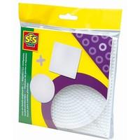 Strijkkralen bordjes SES 5-pack rond en vierkant