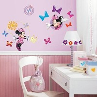 Muursticker Minnie Mouse: 4 vel 25x46 cm