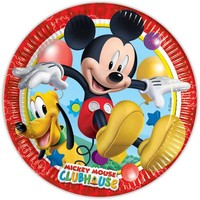 Bordjes Mickey Mouse 23 cm: 8 stuks