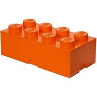 Opbergbox Lego: brick 8 oranje