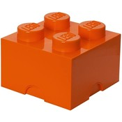 Opbergbox Lego: brick 4 oranje