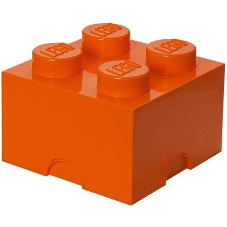 LEGO License Opbergbox Lego: brick 4 oranje