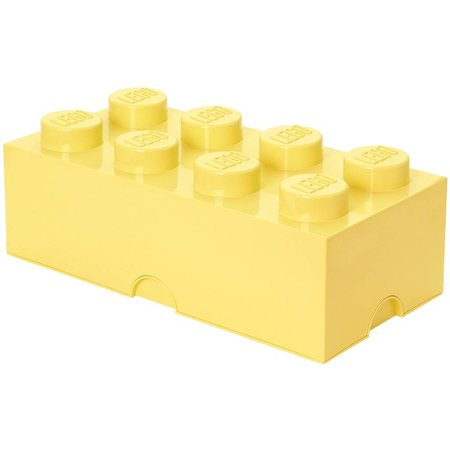 LEGO License LEGO Opbergbox: brick 8 (12 ltr) geel Cool