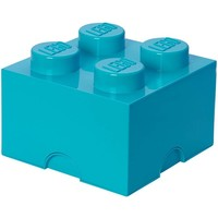 Opbergbox LEGO DESIGN brick 4 blauw AZUR
