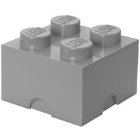 LEGO License Opbergbox LEGO DESIGN brick 4 grijs STONE