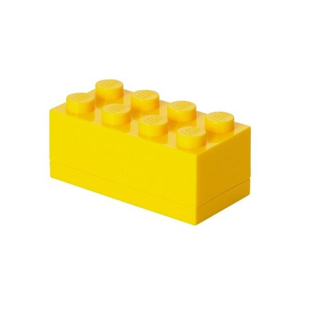 LEGO License LEGO Opbergbox: mini brick 8 geel