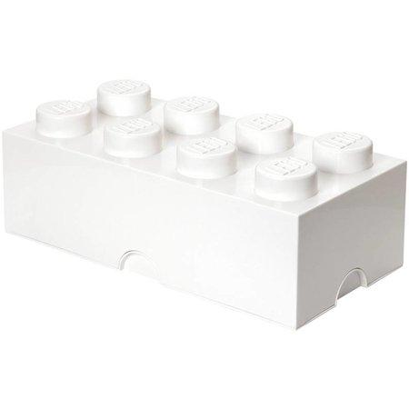 LEGO License LEGO Opbergbox: brick 8 (12 ltr) wit