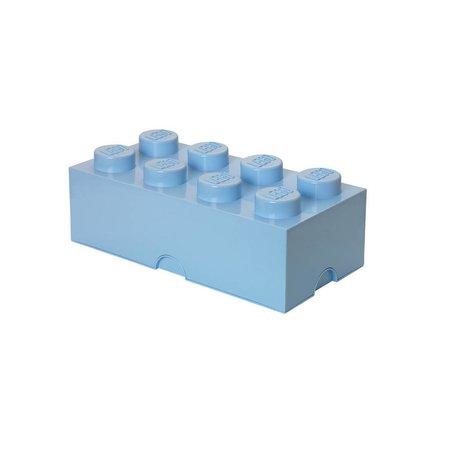 LEGO License LEGO Opbergbox: mini brick 8 licht blauw