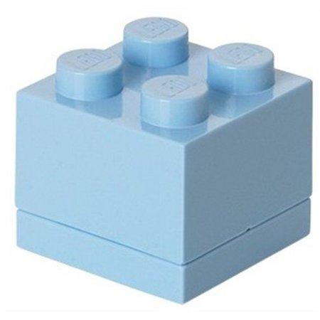 LEGO License LEGO Opbergbox: mini brick 4 licht blauw