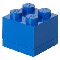 Opbergbox LEGO MINI brick 4 blauw