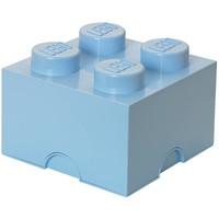 Opbergbox LEGO brick 4 licht blauw