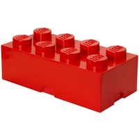Opbergbox LEGO brick 8 rood