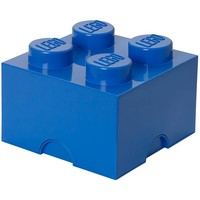 Opbergbox LEGO brick 4 blauw