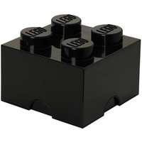 Opbergbox LEGO brick 4 zwart
