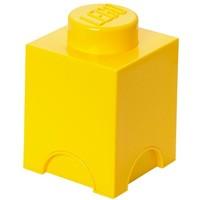 Opbergbox LEGO brick 1 geel