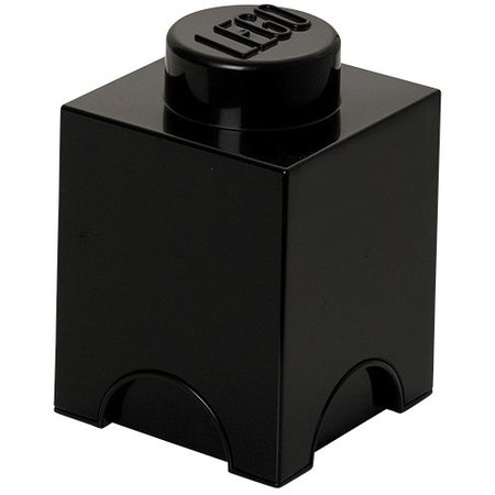 LEGO License LEGO Opbergbox: Brick 1 (1.2l tr) - zwart