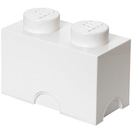 LEGO License LEGO Opbergbox: Brick 2 (2.7 ltr) - wit