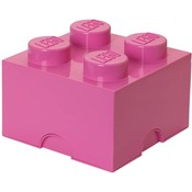 Opbergbox LEGO brick 4 roze