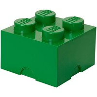 Opbergbox LEGO brick 4 groen