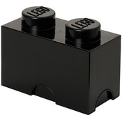 Opbergbox LEGO brick 2 zwart