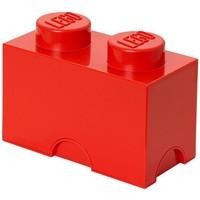 Opbergbox LEGO brick 2 rood