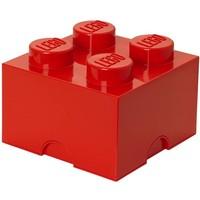 Opbergbox LEGO brick 4 rood