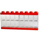 LEGO License Opbergbox Lego: minifigs rood 16-delig