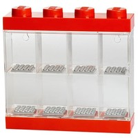 Opbergbox Lego: minifigs rood 8-delig