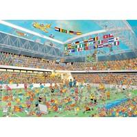 Puzzel JvH: Football 3x500/750/1000 stukjes