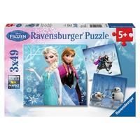 Puzzel Frozen Winterland: 3x49 stukjes