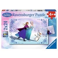 Puzzel Frozen: 2x24 stukjes