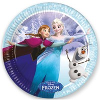 Bordjes Frozen skating 23 cm: 8 stuks