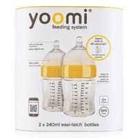 Fles met speen fase 1 Yoomi: 240 ml 2-pack