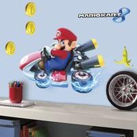 Muursticker Mario Kart 8: 4 vel 25x46 cm