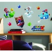Muursticker Mario Roommates: 26,7x12,7 cm