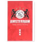AJAX Amsterdam Schrift ajax rood leeuwen A4 gelijnd