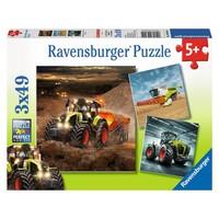 Puzzel Claas landbouwvoertuigen: 3x49 stukjes