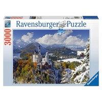 Puzzel Slot Neuschwanstein in winter: 3000 stukjes