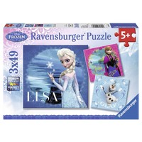 Puzzel Frozen 3x49 stukjes