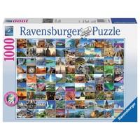 Puzzel 99 mooie plekken op aarde 1000 stukjes